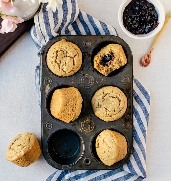 There is nothing quite like peanut butter and jelly muffins to brighted up your day