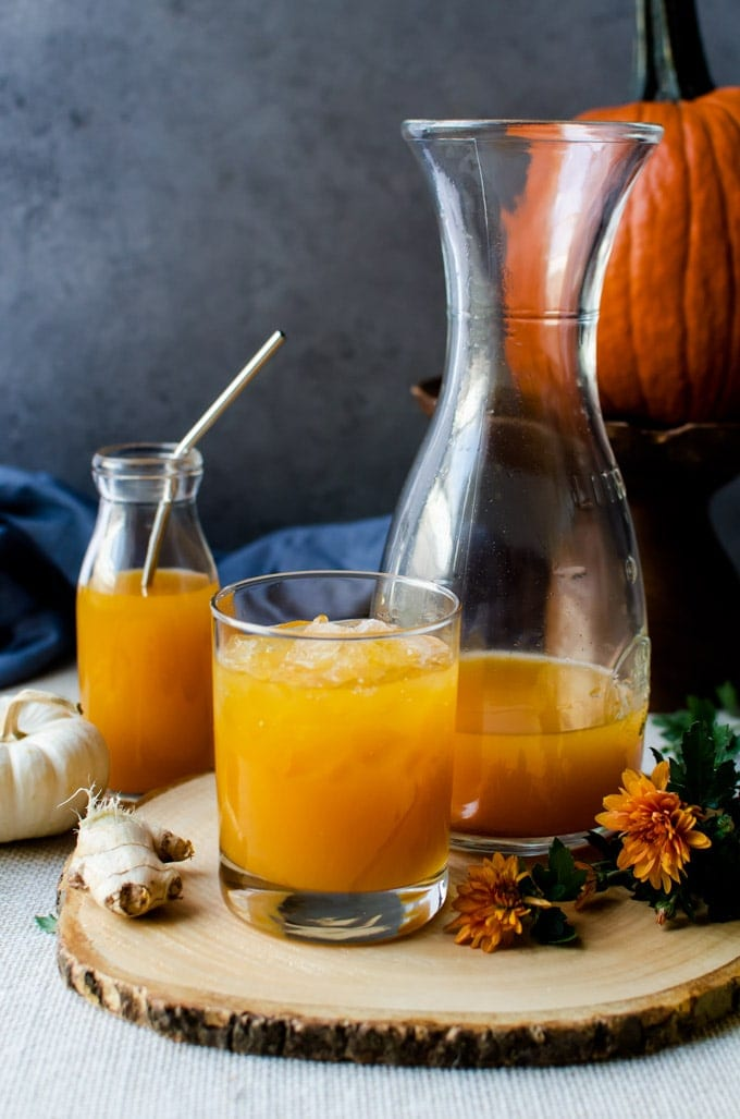 Fall in a glass, you won't want anything else besides pumpkin shrubs