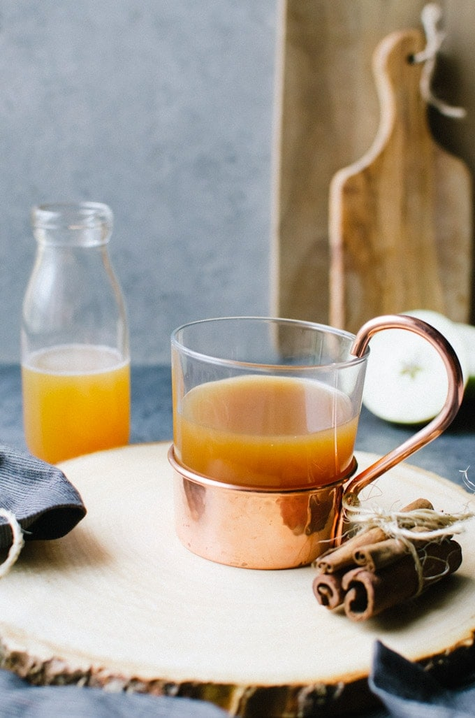 apple cider hot toddy brown butter bourbon image