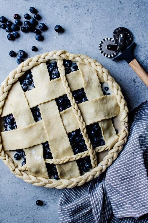 Blueberry buttermilk pie