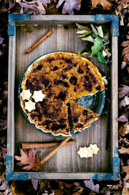 bruleed butternut squash pie