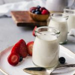 A smooth and creamy buttermilk panna cotta with vanilla beans and fresh fruit