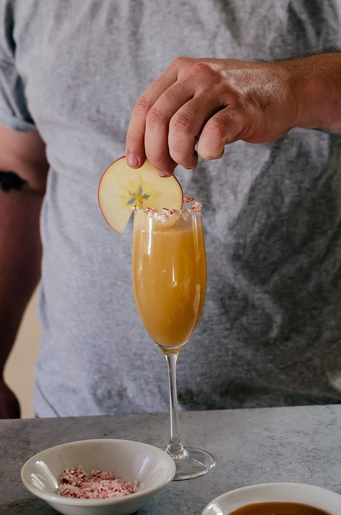There is nothing like a caramel apple bellini to serve for the holidays