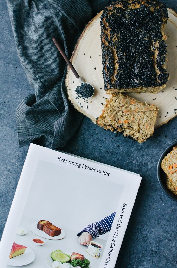 Carrot bread with black sesame seeds and ginger - a tasty vegan treat anyone would love