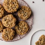 Malted chocolate chip oatmeal cookies with hazelnuts. These chewy cookies are a favorite in our family.