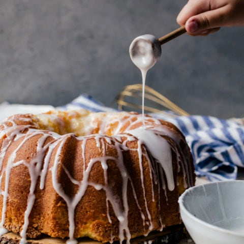 The perfect lemon pound cake rich with bright lemon flavors throughout