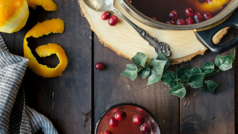 Mulled Apple Cider with Cranberries