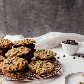 These malted chocolate chip oatmeal cookies are a tasty cookie that everyone loves