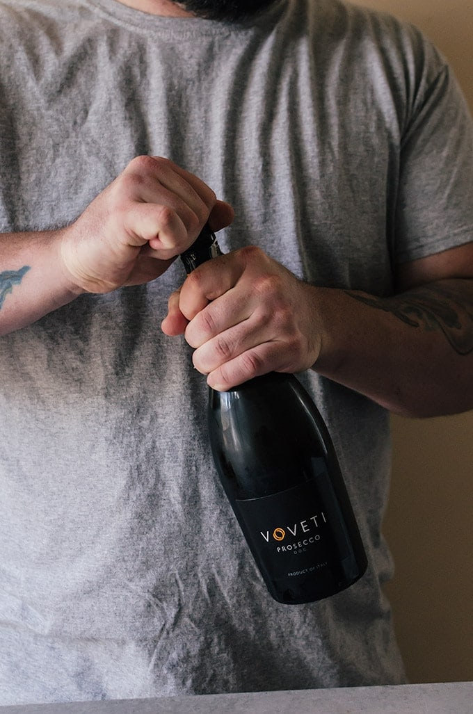 The holidays are the perfect time to hang out with your guy and enjoy a few prosecco cocktails.