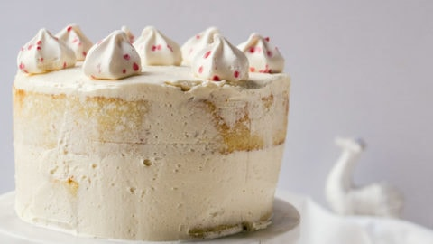 White Chocolate Cake with Peppermint Frosting