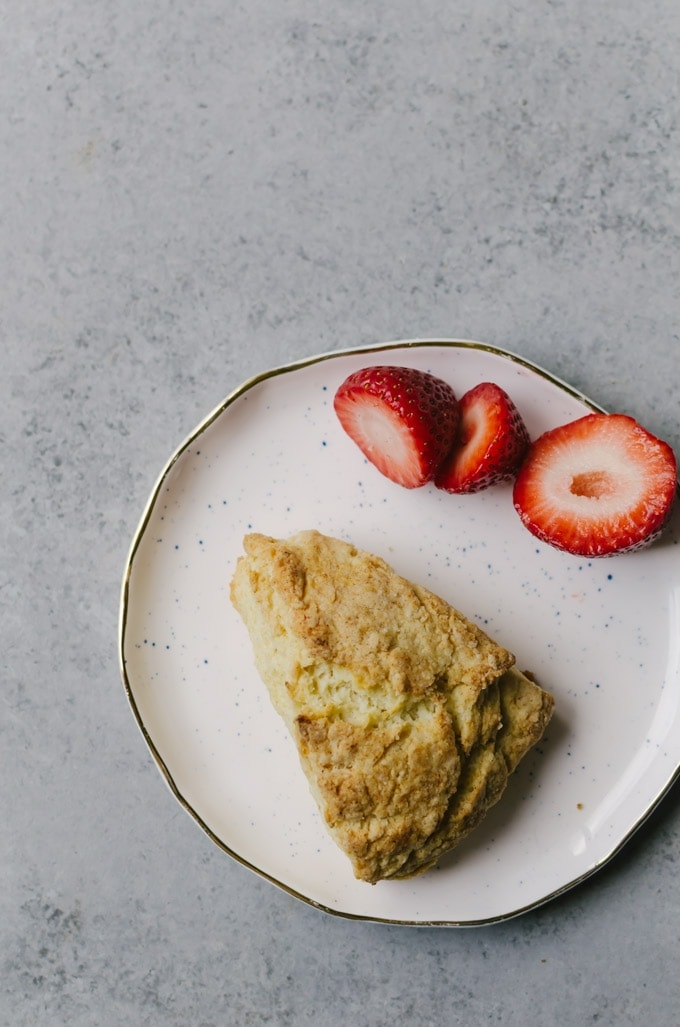 Traditional British scones that aren't dry and bland. Perfect with clotted cream and fresh berries