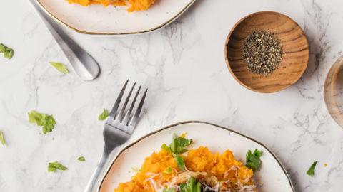 Seared Chicken with Sweet Potato Mash