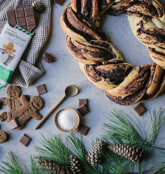easy chocolate gingerbread babka