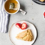 Basic scones with tea and berries, perfect english scones