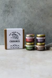 Fat Toad Farm goat's milk caramel makes the best topping or filling for cookies