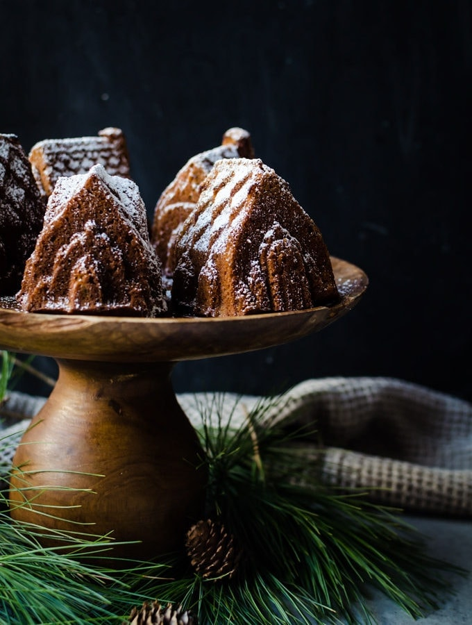 Gingerbread bundt cake with brandy soaked figs. The perfect winter dessert