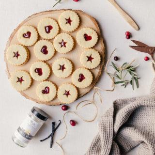 Irresistible plum linzer cookies