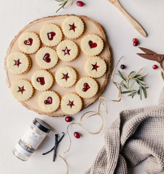 Irresistible plum linzer cookies