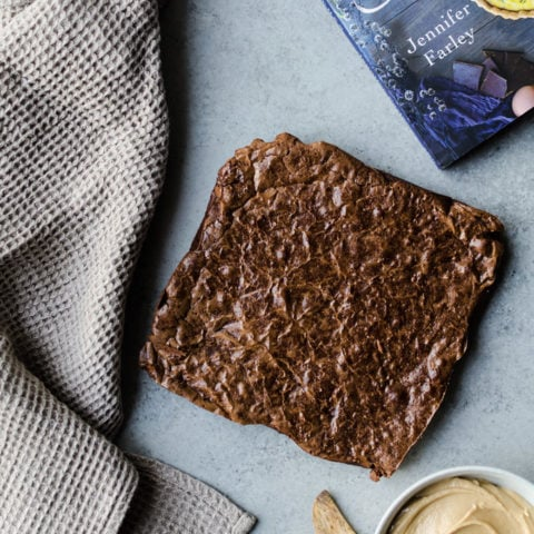 Tahini Frosting Brownies by Savory Simple - possibly the best brownies ever