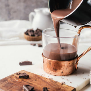 A deliciously rich bourbon spiked hot chocolate