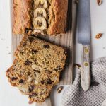 A healthy banana bread that is refined sugar free and made with whole wheat.