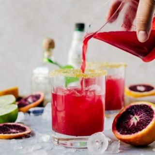 Sweet, fruity blood orange margaritas that everyone will love