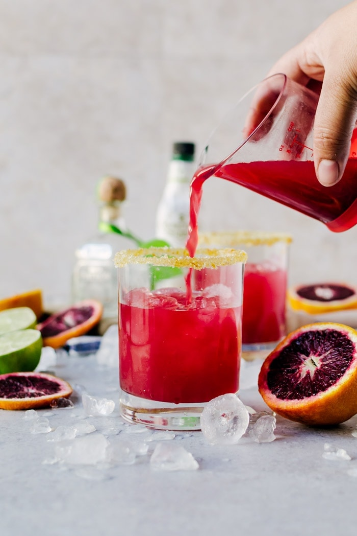 Sweet, fruity blood orange margaritas that everyone will love