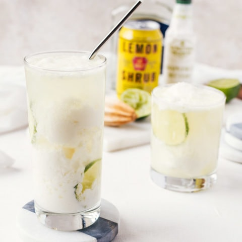 There is nothing quite like this coconut lemon float cocktail.