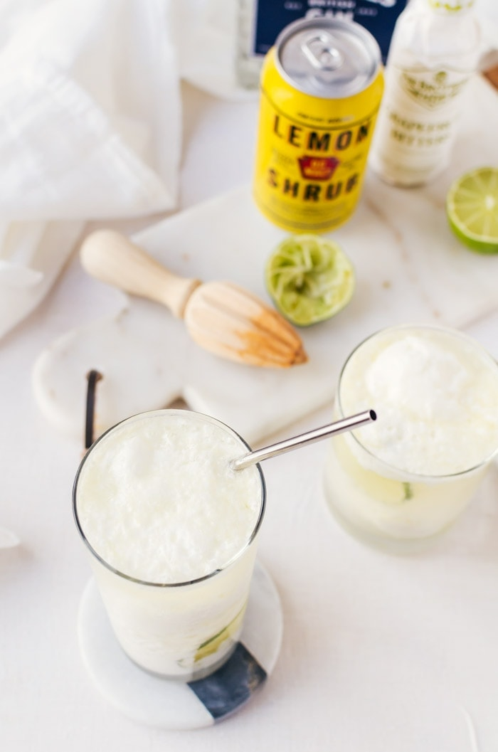 An irresistible coconut lemon float cocktail recipe