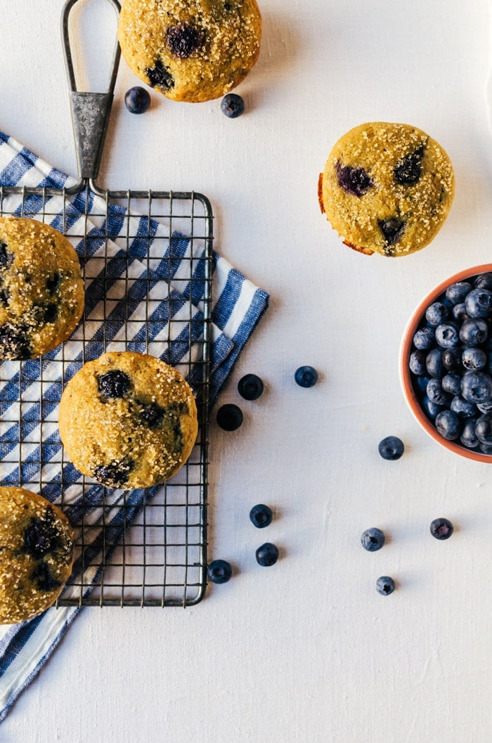 Addictive and totally loaded healthy blueberry muffins