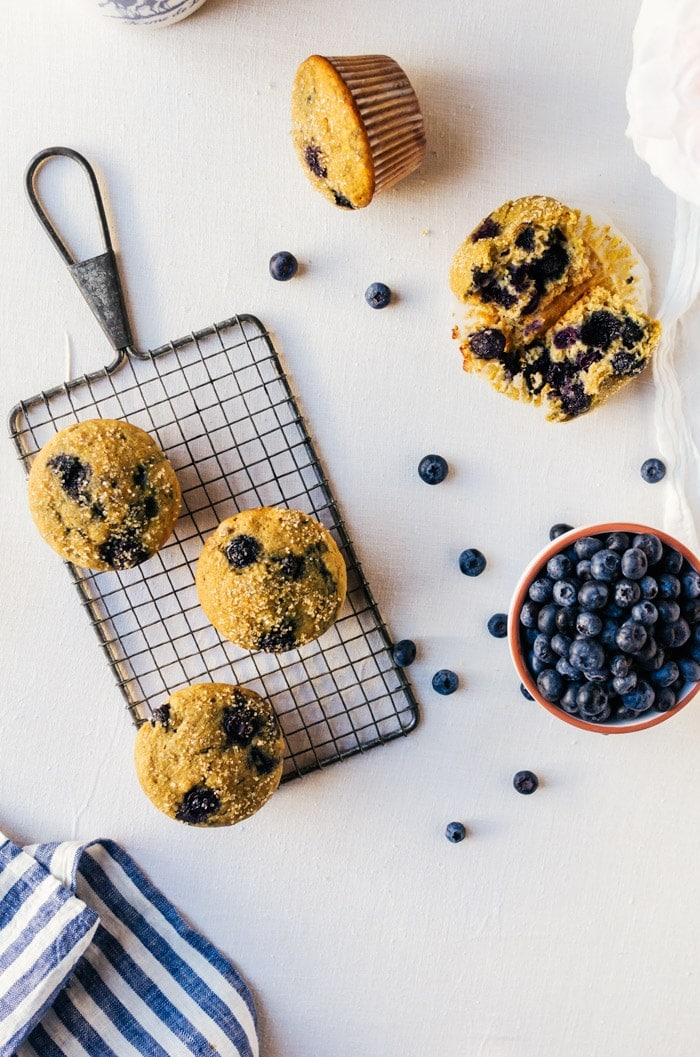 Loaded heallthy blueberry muffins