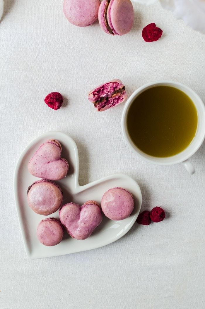 Foolproof raspberry macarons with a creamy chocolate ganache
