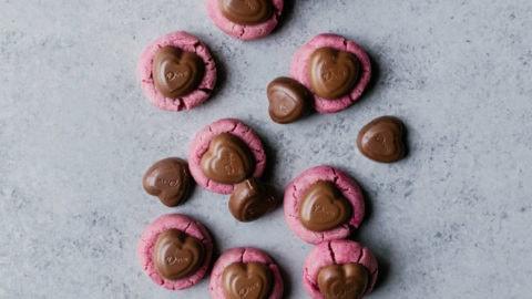 Raspberry Thumbprint Cookies with Chocolate