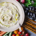 This whipped feta dip is perfect as an app for parties or as a spread in sandwiches and wraps