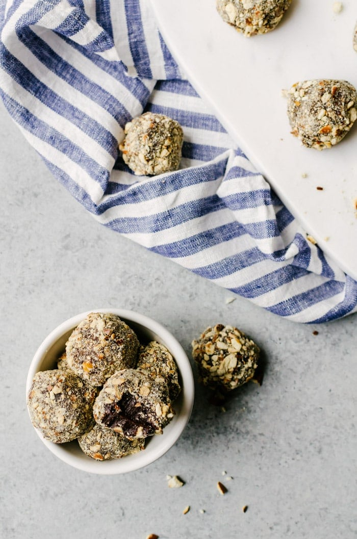 These beer truffles coated with crushed pretzels are an irresistible treat that everyone will love