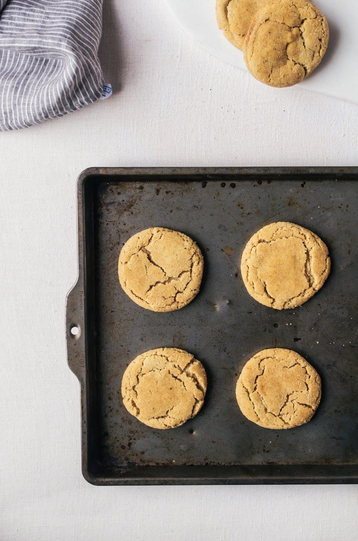 These brown butter snickerdoodle cookies are on a whole new level. It's nutty and has wonderful depth of flavor and amazing texture
