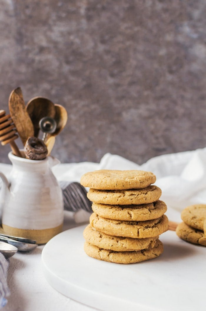 Chewy and irresistible brown butter snickerdoodle cookies