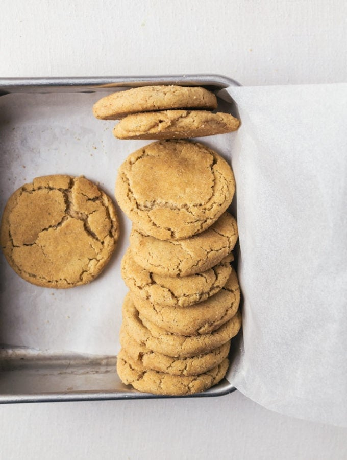 These brown butter snickerdoodle cookies will be gone in minutes after baking!