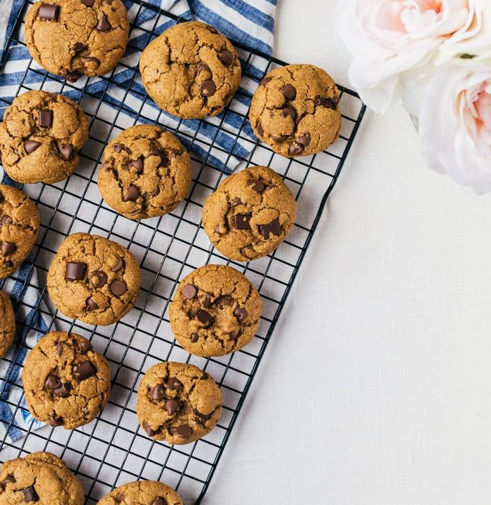Refined sugar free healthy chocolate chip cookies. No one will ever even know these are better for you!