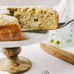 Irish Apple Cake with Whiskey Creme Anglaise