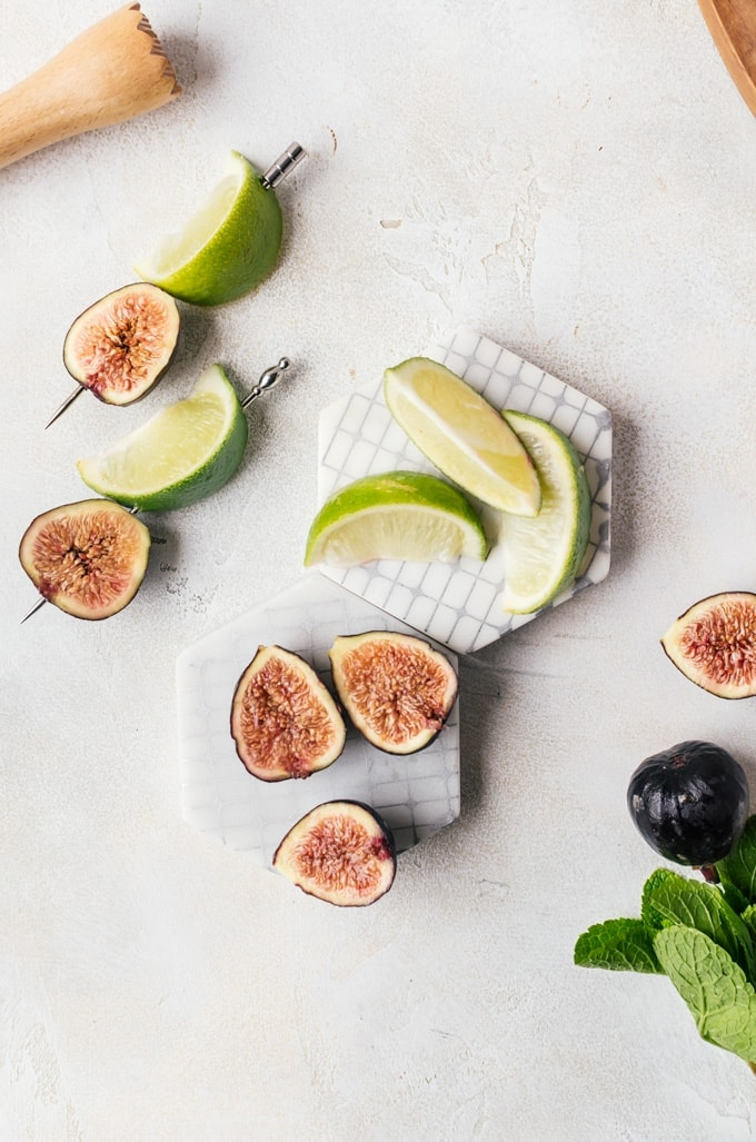 Fresh fig margarita ingredients