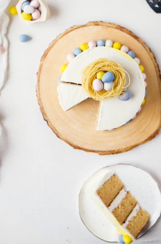 A moist malt cake with white chocolate buttercream. There is no resisting a cake like this.