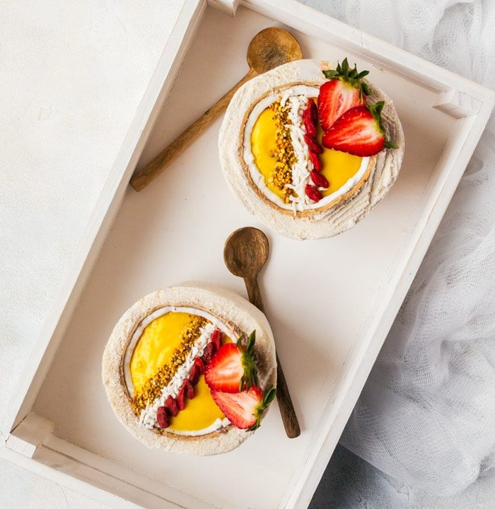 A bright and vibrant mango turmeric smoothie bowl that will brighten your morning, every morning