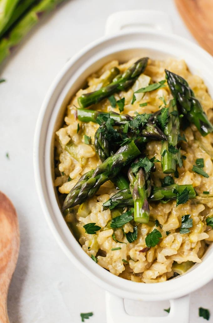 Creamy asparagus risotto a cookie named desire this creamy and cheesy asparagus risotto from the amazing new cookbook five ways to cook asparagus is the perfect beginner risotto that is also appealing ccuart Gallery