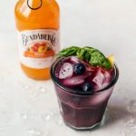 A refreshing blueberry basil peach fizz with fresh fruity flavors that will make your summer better