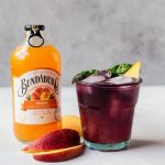 Blueberry Basil Peach Fizz