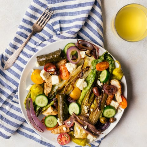 An incredible grilled Greek salad that will make your summers better.