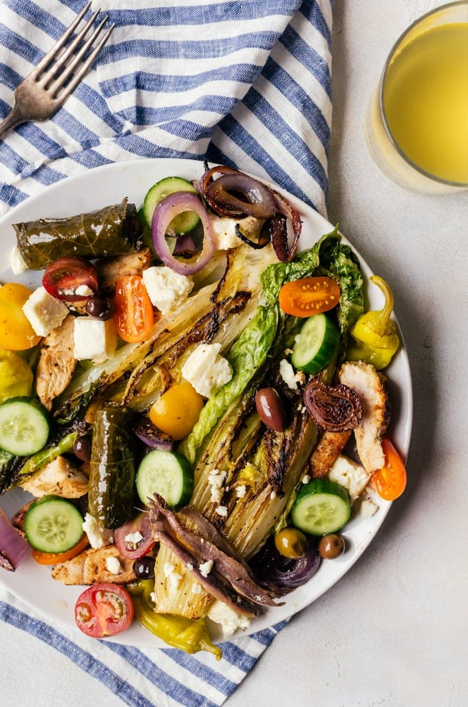 This grilled greek salad is unlike anything you've had in the past.