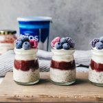 Handle the heat in style with this layered strawberry overnight oats you will want to have every morning