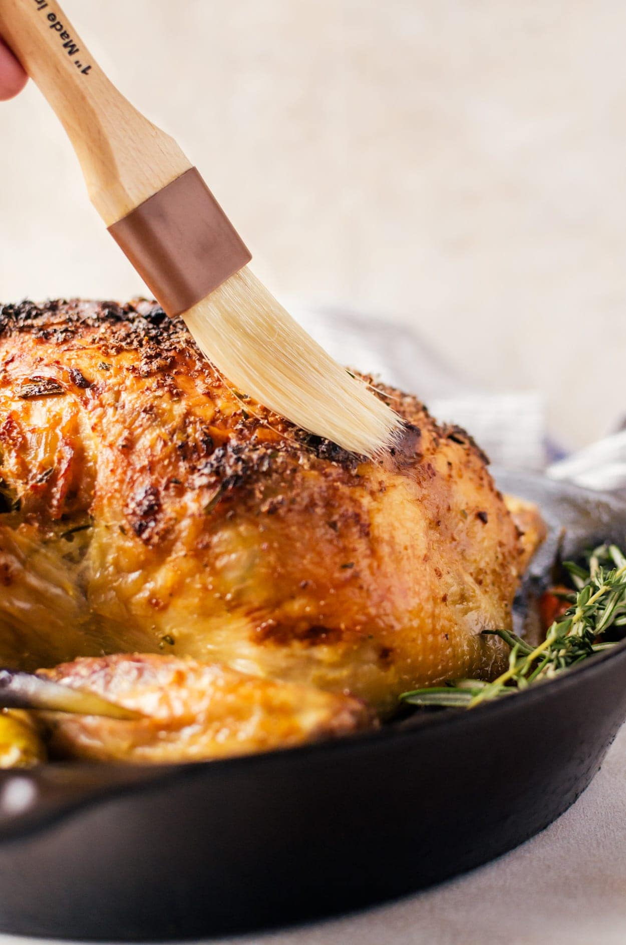 A juicy garlic roasted chicken that is packed to the brim with flavor.